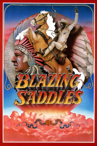 BLAZING SADDLES movie poster INDIAN HEADDRESS comedy 24X36 (reproduction, not an original) (Best Of Blazing Saddles)