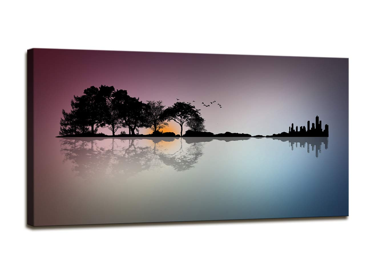 A72662 Canvas Wall Art for Living Room Bathroom Wall Decor for Bedroom Kitchen Artwork Guitar Island Canvas Prints Man Cave Music Lover Gift