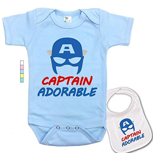 captain america baby onesie - 8