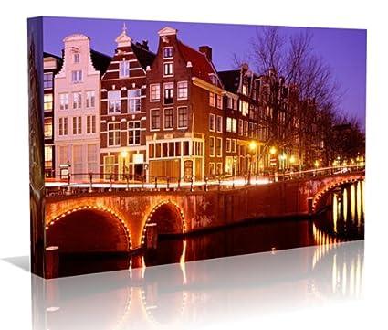 Amsterdam unframed Canvas Art Póster de paisaje, Impresión sin marco ...