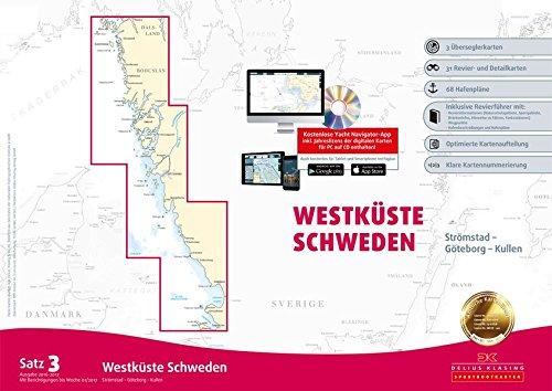 Sportbootkarten Satz 3: Westküste Schweden (berichtigt bis 01/2017): Strömstad bis Kullen Landkarte – 20. März 2017 Delius Klasing 366710863X Karten / Stadtpläne / Europa Ostseeküste