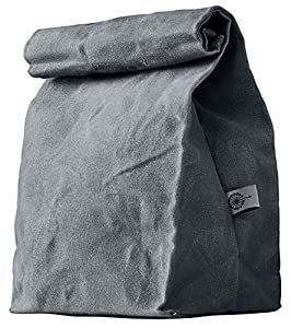 Lunch Bag | Waxed Canvas | Durable | Biodegradable | Gray| For Men, Women & Kids
