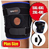 TAVASU Knee Brace for Plus Size, Hinged Stabilizer for ACL, Meniscus Tear, Arthritis Adjustable - 6XL