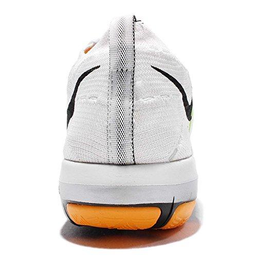 Nike Kvinders Wm Gratis Omdanne Flyknit, Hvid / Sort-laser Orange-total Appelsin, 9,5 Os