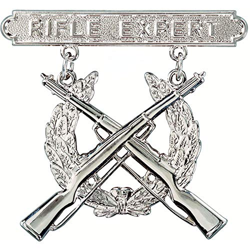 Medals of America Marine Rifle Expert Badge Silver Oxide