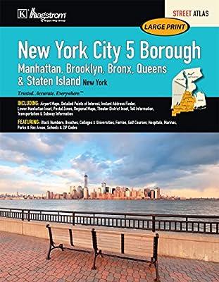 New York City, NY 5-Borough Large Print Street Atlas