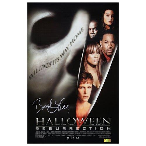 Brad Loree Autographed 11x17 Halloween Resurrection Broadsheet