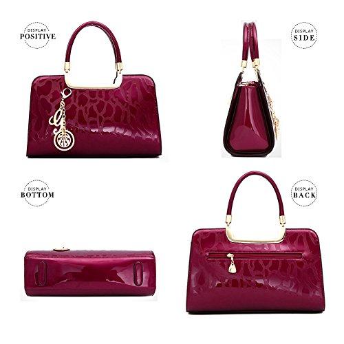 Bag AVERIL for Crossbody Satchel Red Handle Bag Rose Handbag Women Red Shoulder Tassel Tote Purse G Top P7wHvqPd
