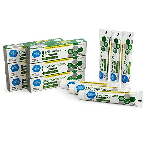 Medpride Antibiotic Ointment| Bacitracin Zinc Ointment| Essential Antibiotic First-Aid Supplies for Home| Relief for Chaffing, Diaper Rash, Dermatitis, Eczema, Itchy/Dry Skin| 1 Oz Tube| 6 Pack