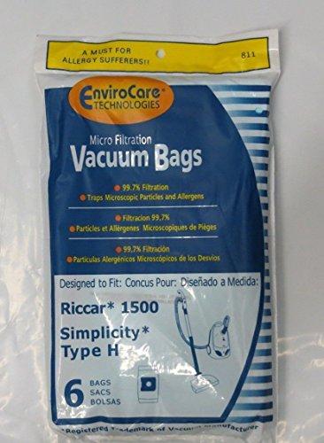 24 Vacuum Bags for Riccar 1500 & Simplicity Type H