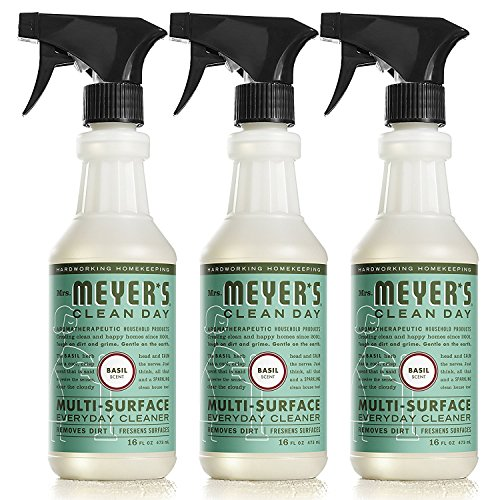 Mrs. Meyers Clean Day Multi-Surface Everyday Cleaner Basil 16 fl oz, 2 Pack (3 ct) by Mrs. Meyer's Clean Day