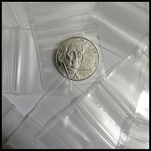12510-S Original Mini Ziplock 2.5mil Plastic Bags 1.25″ x 1″ Reclosable Baggies (Clear) (Clear)