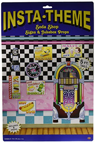 Soda Shop Signs & Jukebox Props Party Accessory (1 count) (8/Pkg)]()
