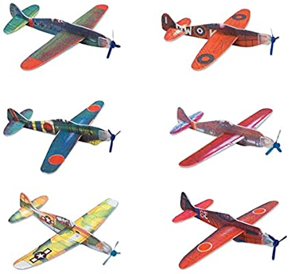 amazon com rhode island novelty 8 flying glider plane set of 12