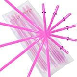 California Straw Pink Replacement Acrylic Straw Set of 6, Fits 16oz Tumblers