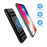 Air Power Bank Wireless Charger with Silicone Sucker, 8000mAh Fast Charging  5V/2.1A Output Power Bank Qi Battery Charger Pad,External Battery for Pack For IPhone X,IPhone 8,Samsung Galaxy S8 Note 8