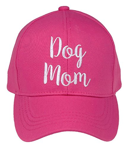 Furry Hat Fedora Ladies (H-2018-DM-24 Saying Baseball Cap - Dog Mom (Pink))