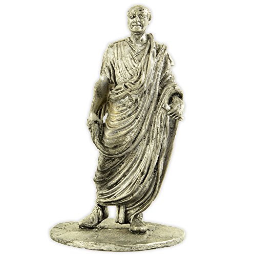 Tin toy soldiers. The Roman Senator metal sculpture. Collection 54mm miniature figurine ()