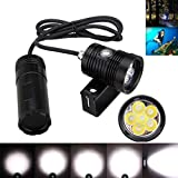 Gotd Underwater 150m 10000lm 6x L2 LED Diving Light+Bracket