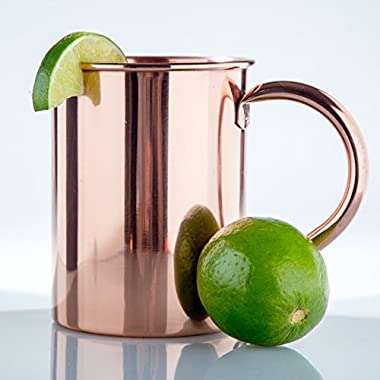 Solid Copper Mug Unlined 22 oz, 100% Pure Copper Moscow Mule Mug - No Inner Lining