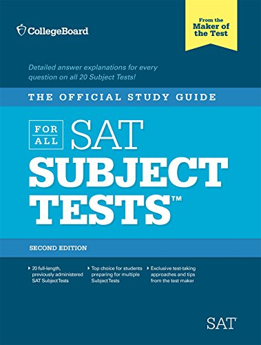 Pdf Test Preparation The Official Study Guide for ALL SAT Subject Tests, 2nd Edition