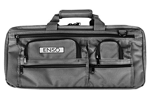 - Enso Chef Knife Bag - 18 Pocket Professional Chefs Case - Canvas, Graphite Gray