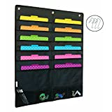 Hanging Wall File Folder | Home Office Organization, Monthly Bill Filing, Patient Chart Records, Scrapbook Paper, School Classroom Assignments, 12 Pocket Chart, Magazine Storage, Mail Organizer