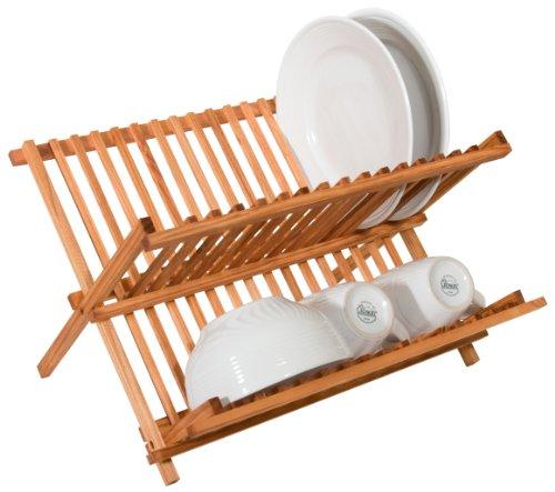 Home Basics Rustic Collection Pine Folding Dish Rack ()