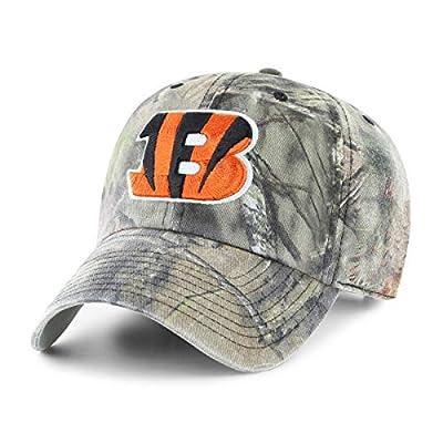 OTS NFL Cincinnati Bengals Men's Challenger Adjustable Hat, Mossy Oak, One Size