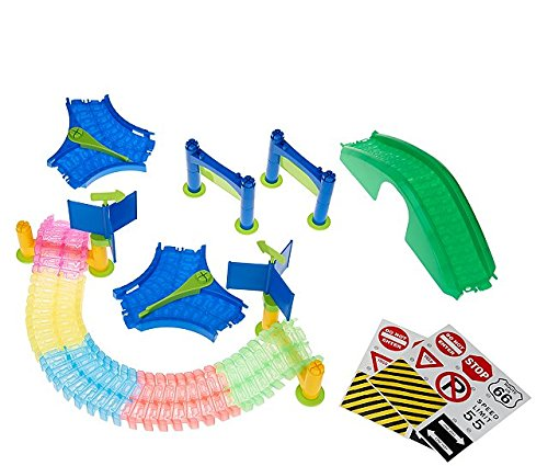 (Mindscope Twister Trax Neon Glow in The Dark Track & Accessory Set w/ Bridge & Tunnel)