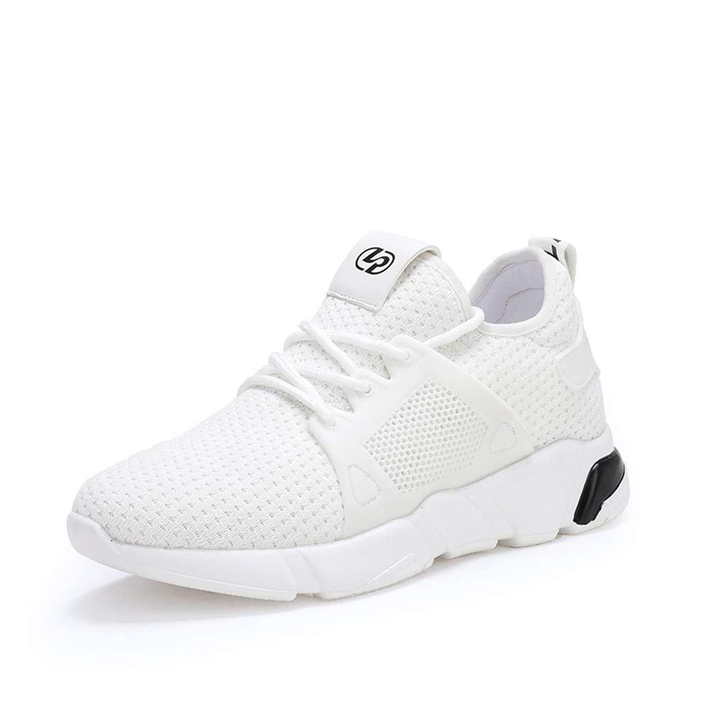 Damen Turnschuhe 2018 Herbst Die neue atmungsaktive leichte Fly Woven Weiß Schuhe Laufschuhe für Damen Casual Steigern Sie Mesh-Turnschuhe (Farbe   B Größe   38)