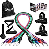 Resistance Band Set, Home Workout Bands with Handles, Heavy Duty Anti-Snap Technology Exercise Bands, Door Anchor, Leg Straps, Carrying Bag for Resistance Training and Physical Therapy. Review