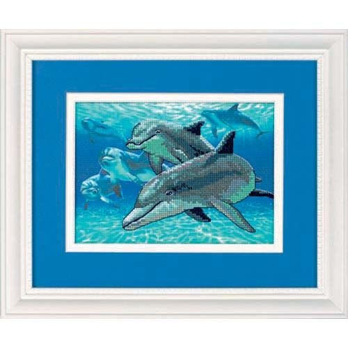 (Dimensions Needlecrafts 6944 Dimensions Gallery No Count Cross Stitch, Deep Sea Dolphins (6944))