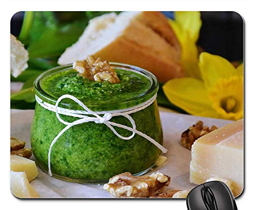 (Mouse Pad - Pesto Bear Garlic BArlauch Pesto Herbs Homemade 2)