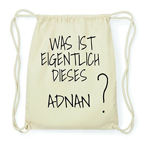 JOllify ADNAN Hipster Turnbeutel Tasche Rucksack aus Baumwolle - Farbe: natur Design: Was ist eigentlich Xbp1Oev