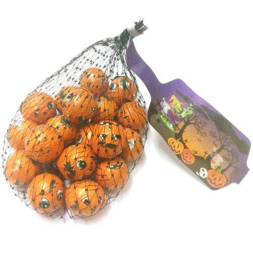 Milk Chocolate Foiled Halloween Pumpkins Balls - 75g Net Bag