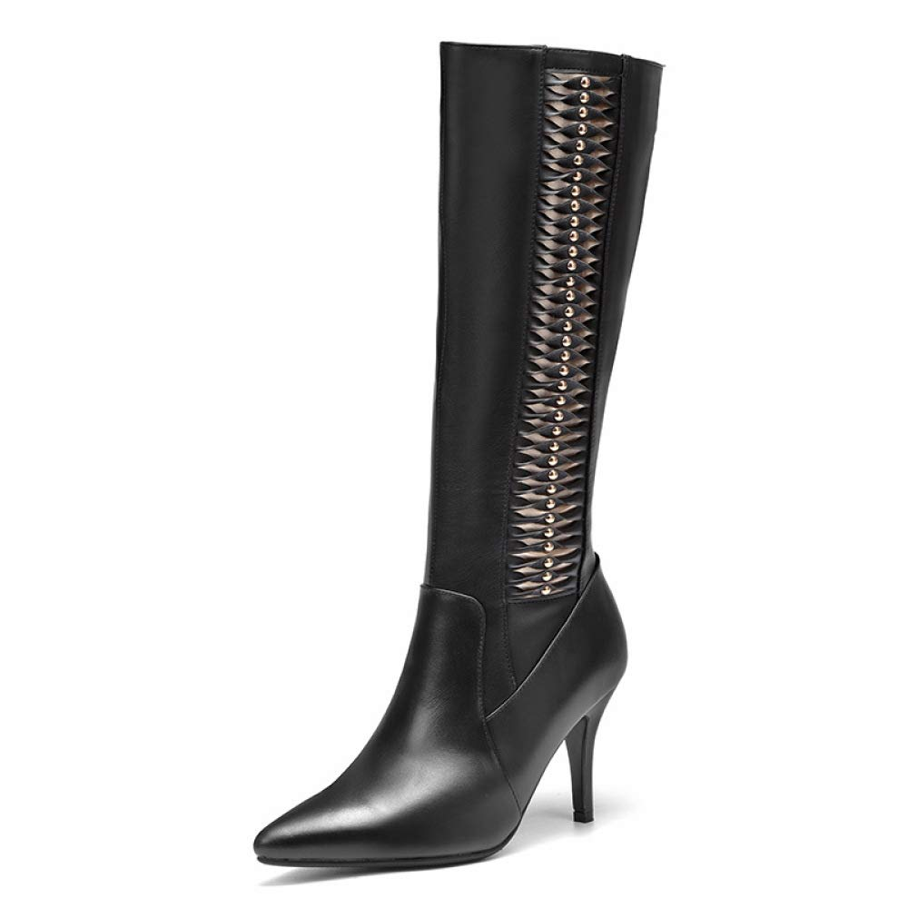 YXLONG Herbst Und Winter Europäische Und Amerikanische Leder Mode Zeigte Hohe Stiefel Frauen High Heel Stiletto Wilde Stiefel Damen Stiefel  | Ruf zuerst  | Haltbarer Service