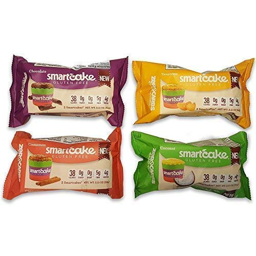 Smart Baking Company, SmartCake ZERO Carbs, Gluten Free, Sugar Free and Starch Free, Low Carb Dessert, Low Carb Snacks, Non-GMO, Assortment 4 Pack