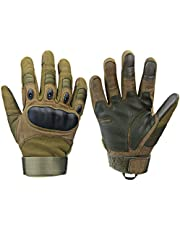 Xnuoyo Gloves Gummi Hart Knuckle Vollfinger und Halbe Fingerhandschuhe Schutzhandschuhe Touchscreen Handschuhe für Motorrad Radfahren Jagd Klettern Camping