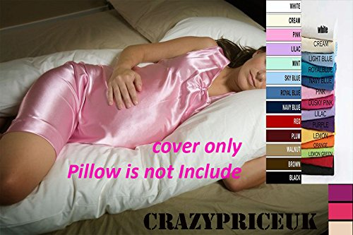 CRAZYPRICEUK 9FT U//V BODY MATERNITY//PREGNANCY PILLOW CASE White VARIOUS COLOURS AVAILABLE