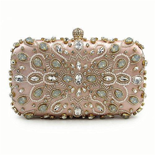 Soirée Lovely d'embrayage de de Robe Strass Pink rabbit Color Sac Haute Sac Femmes Soirée Mariage Mariée de Pochette Beige qualité qgrCqfOn