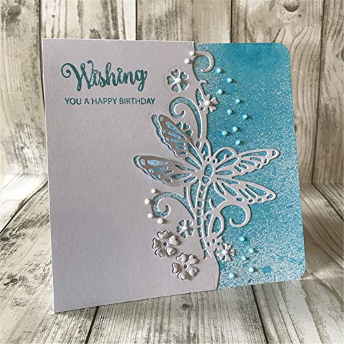 Edge Card - Butterfly lace Edge New 2018 Stitched Metal Cutting Dies DIY Scrapbooking Stamps Craft Embossing Making Stencil Template Secologo