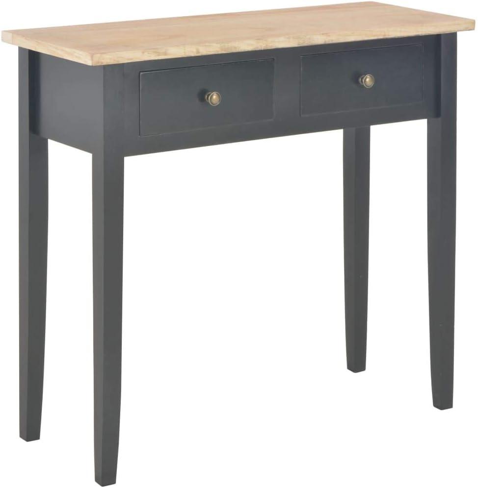 vidaXL Bois Table de Console et Coiffeuse Table de Maquillage Meuble de Chambre /à Coucher Couloir Salon Entr/ée Salle /à Manger Maison Marron