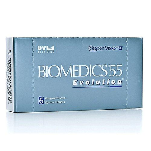Biomedics 55 Evolution UV, 6er Packung Kontaktlinsen, Stärke frei wählbar (BC-Wert: 8.60, 8.90 oder 8.80 / Dia: 14.2 mm)