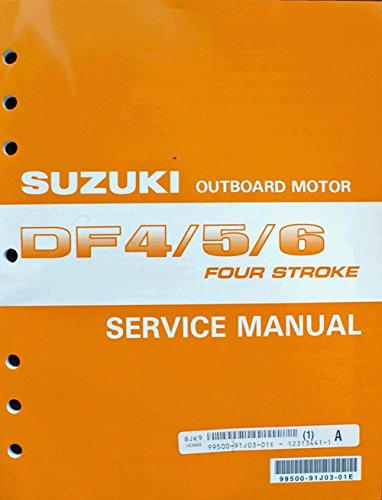 Suzuki Outboard (99500-91J03-01E Genuine OEM Service Manual 4-Stroke 4-5-6 hp. 2002 Thru 2005