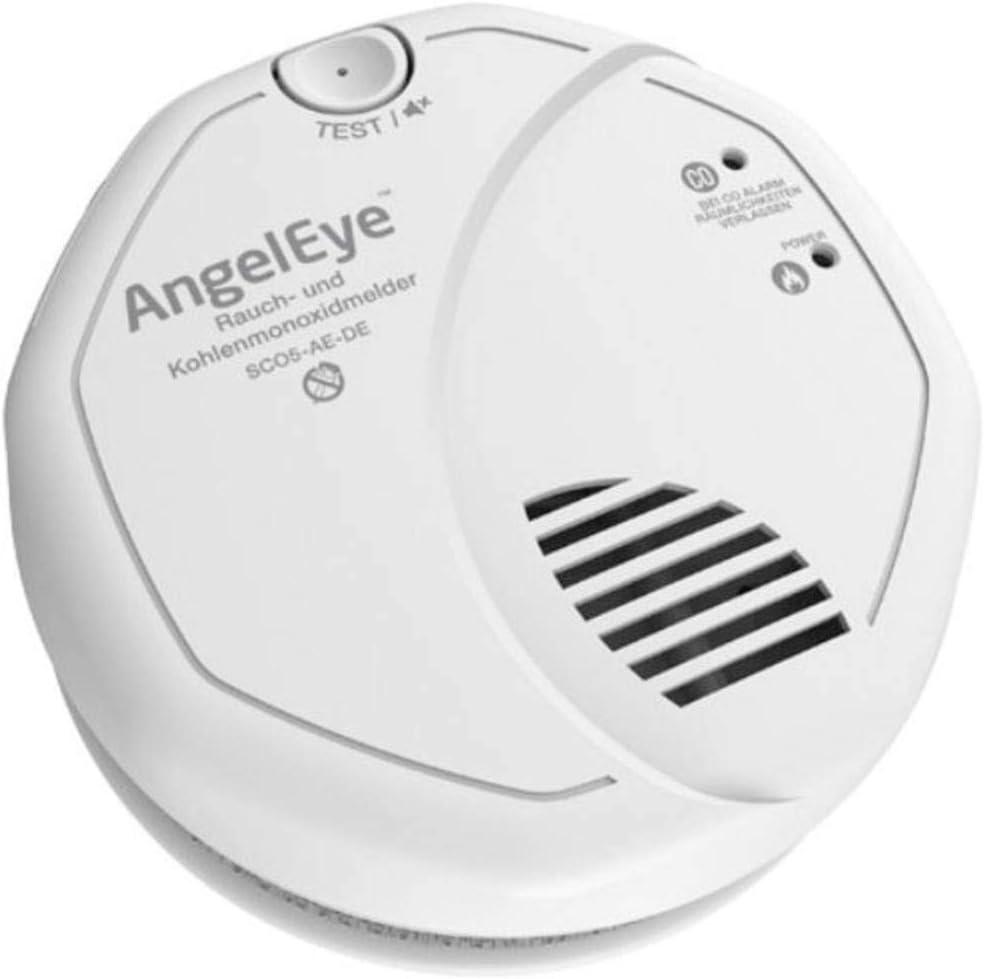 Frist Alert SCO5 AE DER Batteriebetriebener Rauch und Kohlenmonoxidmelder für die Anwendung in privaten Wohnbereichen, weiß