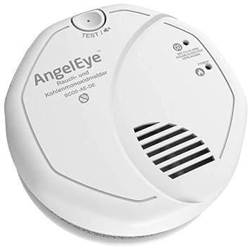 Frist Alert - Detector de humo y monóxido de carbono a pilas para uso en espacios domésticos, 1 unidad, color blanco, SCO5-AE-DER