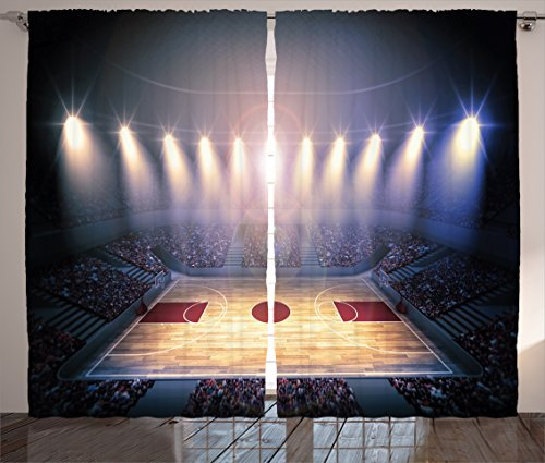 Curtains Ambesonne Crowded Basketball Tournament