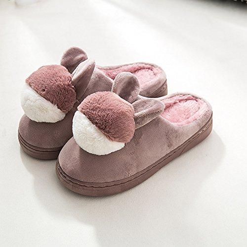LaxBa Mesdames Accueil Marbre Chaussons Chaussures Semelle dCotton-Padded agréable peau rouge40-70?Convient pour 39-40 yards à lusure?