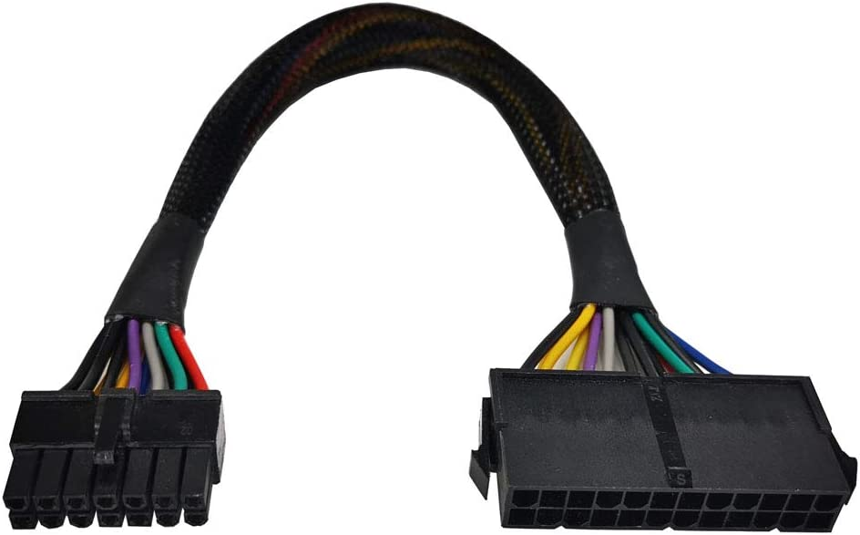 ZLKSKER 24-Pin to 14-Pin Cable(12-Inch), ATX PSU Main Power Adapter Cable, Plug and Play, for Lenovo IBM Dell, A75 B75 Q75 Q77